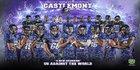 Castlemont Knights Boys Varsity Football Fall 16-17 team photo.