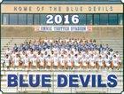 Mortimer Jordan Blue Devils Boys Varsity Football Fall 16-17 team photo.