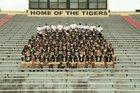 Central Tigers Boys Varsity Football Fall 16-17 team photo.