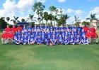 King's Academy Lions Boys Varsity Football Fall 16-17 team photo.