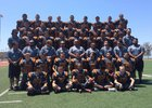 Estancia Eagles Boys Varsity Football Fall 16-17 team photo.