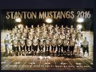 Stanton Mustangs Boys Varsity Football Fall 16-17 team photo.