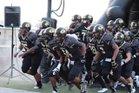 Giddings Buffaloes Boys Varsity Football Fall 16-17 team photo.