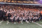 Osseo Orioles Boys Varsity Football Fall 16-17 team photo.