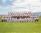 Volcano Vista Hawks Boys Varsity Football Fall 16-17 team photo.