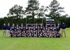 Prentiss Christian Saints Boys Varsity Football Fall 16-17 team photo.