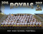 Roy Royals Boys Varsity Football Fall 16-17 team photo.