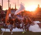 Roseville Tigers Boys Varsity Football Fall 16-17 team photo.
