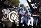 Clark Cougars Boys Varsity Football Fall 16-17 team photo.
