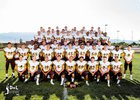 Cibola Cougars Boys Varsity Football Fall 16-17 team photo.