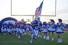Veterans Memorial Patriots Boys Varsity Football Fall 16-17 team photo.