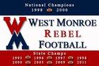 West Monroe Rebels Boys Varsity Football Fall 16-17 team photo.