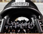 Steele Knights Boys Varsity Football Fall 16-17 team photo.