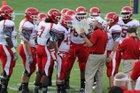 Carthage Bulldogs Boys Varsity Football Fall 16-17 team photo.