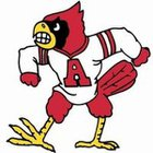 Alton Redbirds Boys Varsity Football Fall 16-17 team photo.