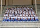 Olympic Trojans Boys Varsity Football Fall 16-17 team photo.