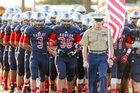 Veterans Memorial Eagles Boys Varsity Football Fall 16-17 team photo.
