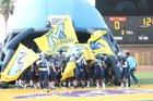McAllen Memorial Mustangs Boys Varsity Football Fall 16-17 team photo.