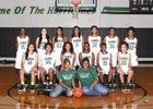 Fort Bend Hightower Hurricanes Girls Varsity Basketball Winter 15-16 team photo.