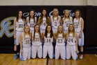 New Rockford-Sheyenne Rockets Girls Varsity Basketball Winter 15-16 team photo.