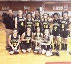 Itasca Cats Girls Varsity Basketball Winter 15-16 team photo.
