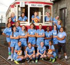 West Valley Rams Girls Varsity Soccer Fall 16-17 team photo.