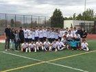 KIPP Denver Collegiate (white) Tigers Boys Varsity Soccer Fall 16-17 team photo.
