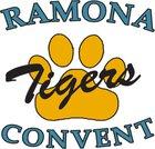 Ramona Convent Tigers Girls Varsity Softball Spring 18-19 team photo.