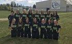 Kettle Falls Bulldogs Girls Varsity Softball Spring 18-19 team photo.