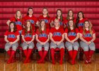 Pleasant Plains Cardinals Girls Varsity Softball Spring 18-19 team photo.