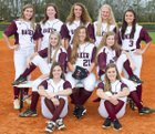 Baker Gators Girls Varsity Softball Spring 18-19 team photo.