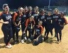 Zephyrhills Bulldogs Girls Varsity Softball Spring 18-19 team photo.