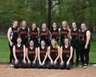 Warsaw Tigers Girls Varsity Softball Spring 18-19 team photo.