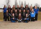 Fife Trojans Girls Varsity Softball Spring 18-19 team photo.
