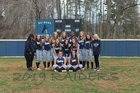 Appomattox County Raiders Girls Varsity Softball Spring 18-19 team photo.
