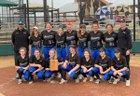 Aurora Central Catholic Chargers Girls Varsity Softball Spring 18-19 team photo.