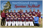 Northland Prep Academy Spartans Girls Varsity Softball Spring 18-19 team photo.