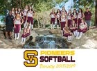 Simi Valley Pioneers Girls Varsity Softball Spring 18-19 team photo.