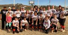 Globe Tigers Girls Varsity Softball Spring 18-19 team photo.