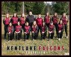 Kentlake Falcons Girls Varsity Softball Spring 18-19 team photo.