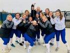 Peaster Greyhounds Girls Varsity Softball Spring 18-19 team photo.