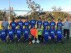 Cornerstone Charter Academy Ducks Boys Varsity Soccer Winter 18-19 team photo.