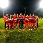 Chowchilla Tribe Boys Varsity Soccer Winter 18-19 team photo.