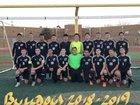 Douglas Bulldogs Boys Varsity Soccer Winter 18-19 team photo.