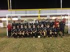 Caddo Magnet Mustangs Boys Varsity Soccer Winter 18-19 team photo.