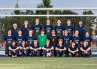 Calvary Christian Warriors Boys Varsity Soccer Winter 18-19 team photo.