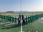 Liberty Ranch Hawks Boys Varsity Soccer Winter 18-19 team photo.