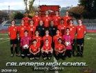 California Grizzlies Boys Varsity Soccer Winter 18-19 team photo.