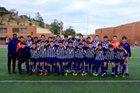 Cathedral Phantoms Boys Varsity Soccer Winter 18-19 team photo.
