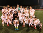 Atascadero Greyhounds Boys Varsity Soccer Winter 18-19 team photo.